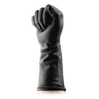 Латексные черные перчатки для фистинга «Черный властелин»