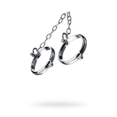 Наручники металлические с цепочкой БДСМ «Нежность»