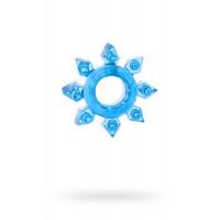 Эрекционное кольцо «Ненасытная снежинка», синее