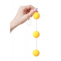 Анальные шарики «Желтая гусеница»